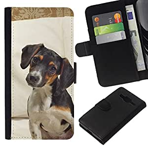 All Phone Most Case / Oferta Especial Cáscara Funda de cuero Monedero Cubierta de proteccion Caso / Wallet Case for Samsung Galaxy Core Prime // Jack Russell Terrier Dog Canine Pet