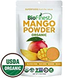 Biofinest Mango Powder - 100% Pure Freeze-Dried Antioxidants Superfood -USDA Certified Organic Vegan Raw Non-GMO - Alkalizes Body Boost Digestion - For Smoothie Mix Beverage Blend (4oz Resealable Bag)