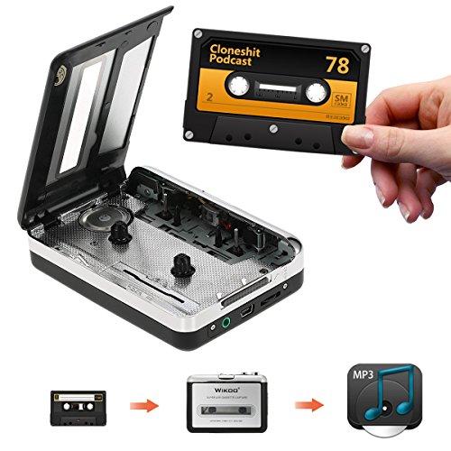 카세트를 MP3 변환기, Wikoo USB 카세트 변환기 이어폰, 휴대용..
