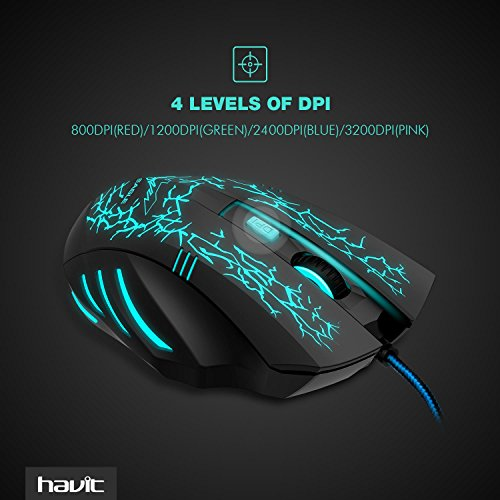 514uqBL7f0L - HAVIT-HV-MS672-3200DPI-Wired-Mouse-4-Adjustable-DPI-Levels-800120024003200DPI-7-Circular-Breathing-LED-Light-6-Buttons-Updated-Version