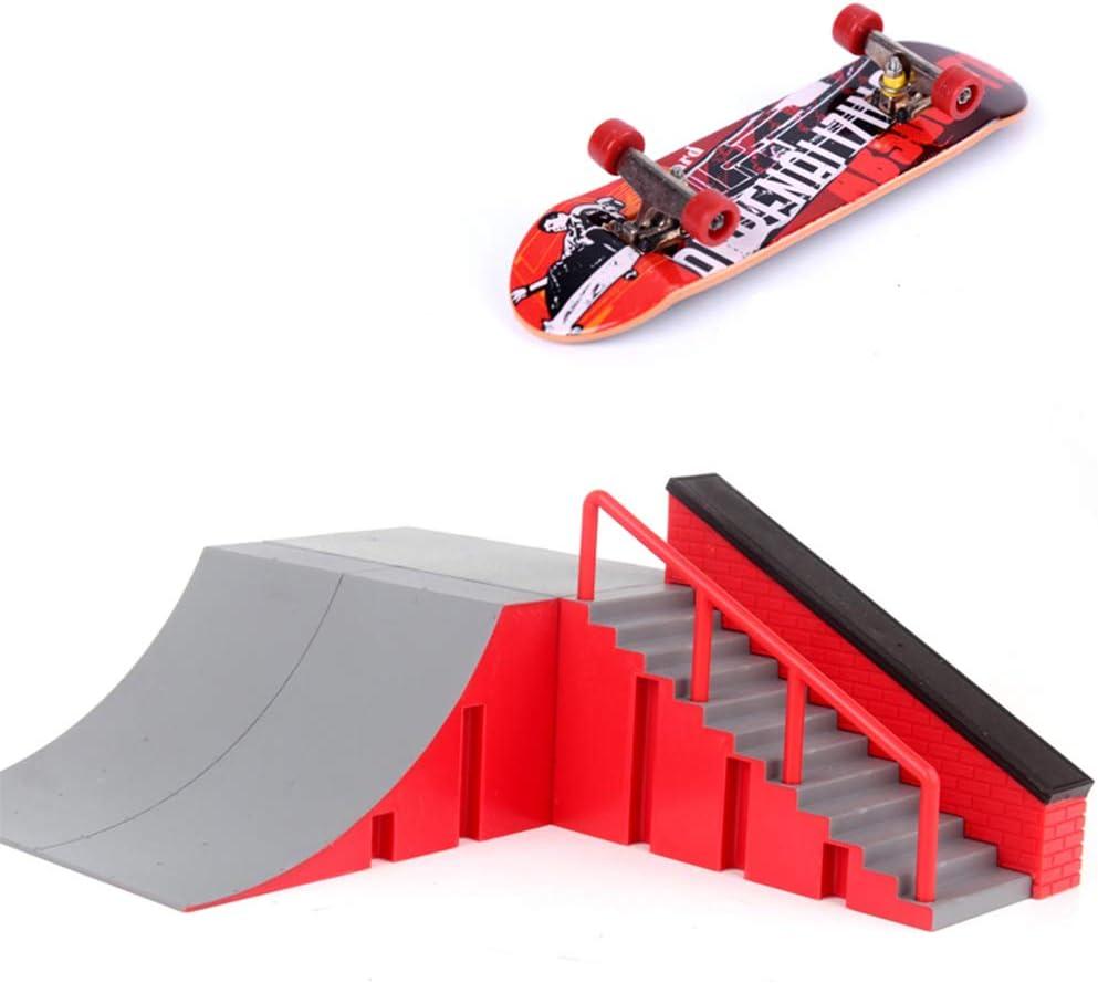 WT-YOGUET Kit de 11 pi/èces de skate Park Rampe pour doigts mini skate
