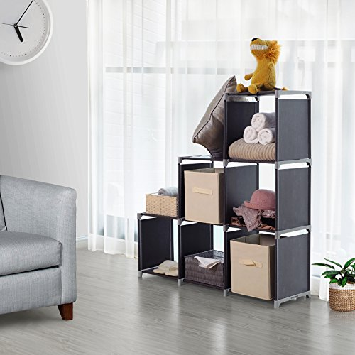 Songmics 3 Tier Storage Cube Closet Organizer Shelf 6 Cube Cabinet Bookcase Black Ulsn63h Buy