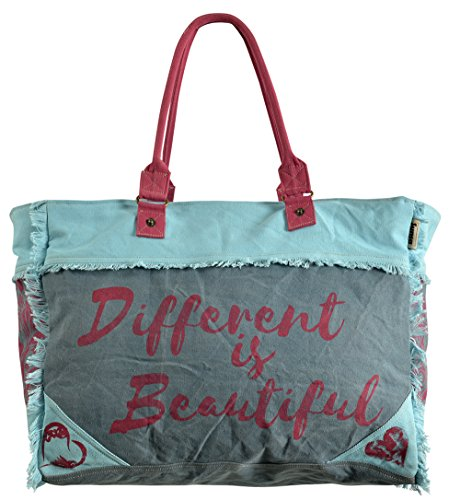 2e4467814bacd Sunsa Damen Tasche Badetasche Schultertasche Handtasche Shopper aus Canvas    Segeltuch und Leder