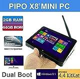 Pipo X8s TOZO Wifi 2G RAM 32GB ROM Tablet Mini PC Desktop Laptop TV Box Intel Atom Z3735f Quad Core 2.16 GHz Dual System (Windows 8.1 / Android 4.4 KitKat) HDMI 7