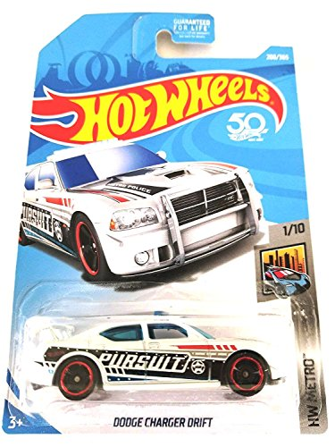 Hot Wheels 2018 50th Anniversary HW Metro Series Dodge Charger Drift (Police Car) 208/365, ()