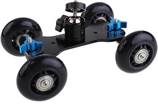 Dolly Skater de Mesa Compacta de Tripode Con mini Rotula Carro de ...