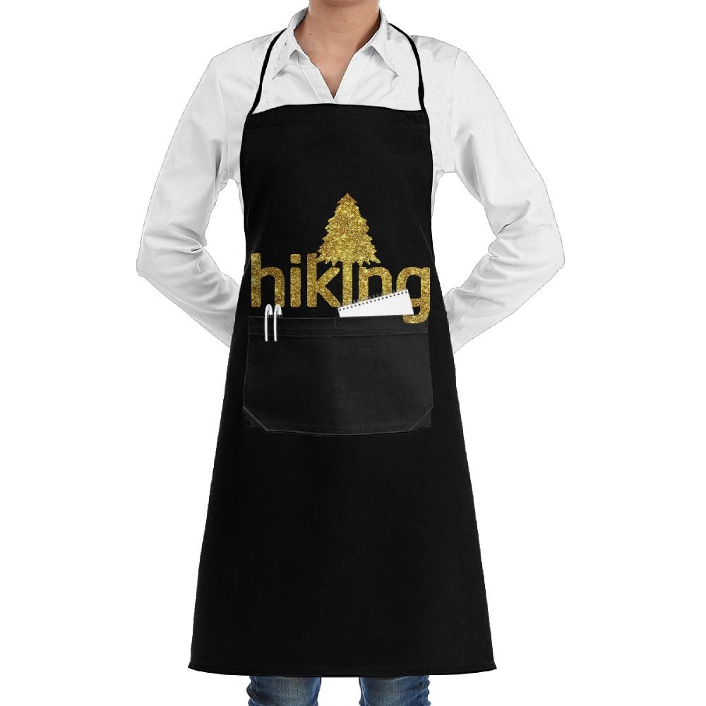 Live Love Hike Hiking Cooking Kitchen Aprons With Pockets Bib Apron For Cooking, Baking, Crafting, Gardening, BBQ