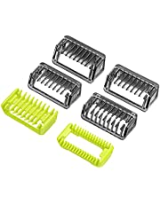 Yinke Guide Comb Body Skin for Philips OneBlade & One Blade Pro QP2520 QP2530 QP2620 QP2630 QP6510 QP6520 Face Hair Clippers Beard Trimmer Replacement Pack Kit (6pc)