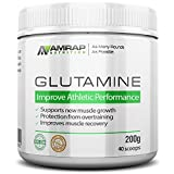 AMRAP Nutrition - L-Glutamine Powder - Pure Micronized Free-Form Glutamine Recovery Powder - Clinically Proven Recovery Aid for Men and Women - Safe for Regular Consumption - 200 grams