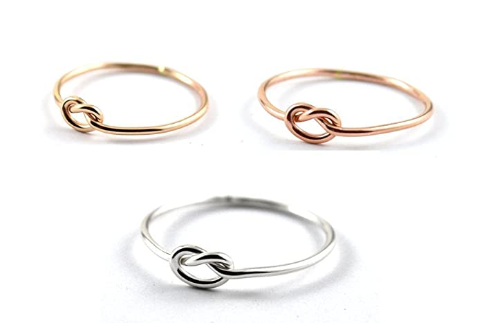 Amazon.com: Love knot ring, Simple knot ring, Gold knot ring, Tie ...