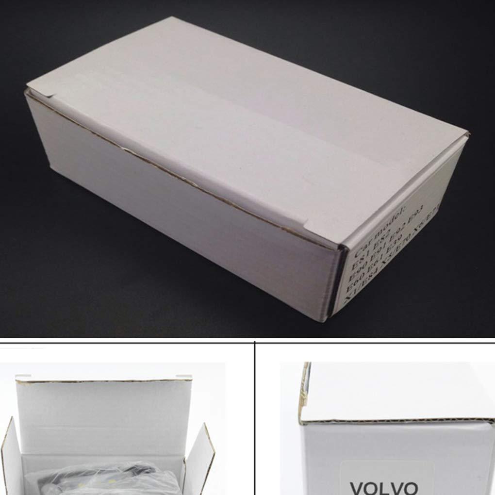 S80 S60 fgghfgrtgtg Para Volvo S40 V70 XC60 1 Par 3 LED de Cuentas de pl/ástico luz de la matr/ícula del Coche de Accesorios de reemplazo