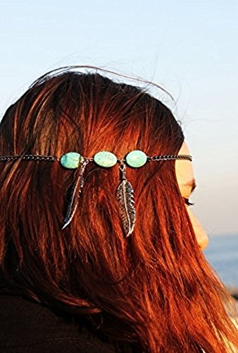 Istanbul Leaves, Beads Turkish, Turquoise Bead ,Headchain, Headdres,s Hippie, Hipster, Bohemian, Boho, ,Trend, FESTIVAL JEWELRY,head chain,head jewelry,hair accessories,gypsy,