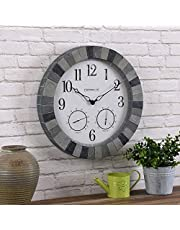 FirsTime & Co.® Graystone Outdoor Clock, American Crafted, Multi-Gray Stone, 18 x 2 x 18 ,