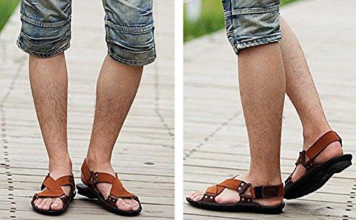 2017 del verano nuevos hombres casuales sandalias de cuero sandalias zapatillas transpirables 3