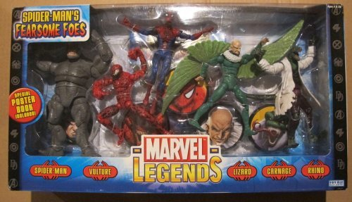 Marvel Legends Spider-Man Classics Fearsome Foes Figure Pack by Toy Biz (Lizard Man Action Figure)