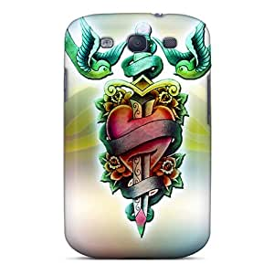 (PyM9170cogG)durable Protection Case Cover For Galaxy S3(tattoo)