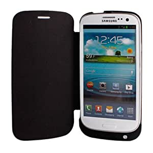 Black 3200mAh External Battery Case +Leather Case + Holder Rechareable Power Bank Case for SAMSUNG GALAXY S ¢ó 9300