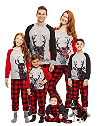 Family Holiday Oh Deer Matching Pajama Sets | Mens 2-Piece Pajama Size S