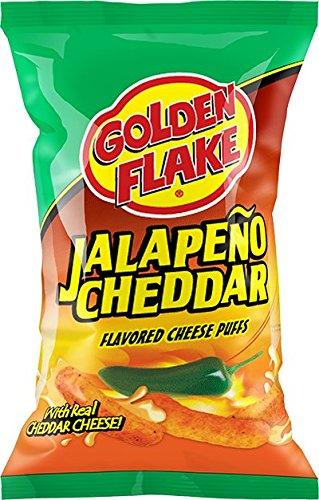 Golden Flake Jalapeño Cheese Puffs 5 oz Bags (4 Packs)