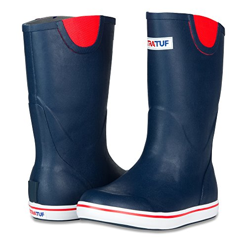 XTRATUF Performance Series 12'' Men's Full Rubber Deck Boots, Navy & Red (22732) by Xtratuf (Image #7)