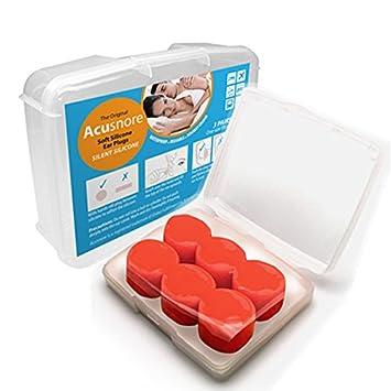 Acusnore - Tapones para los oídos de silicona suave, cómodos y ajustables, moldeables, para dormir: Amazon.es: Salud y cuidado personal