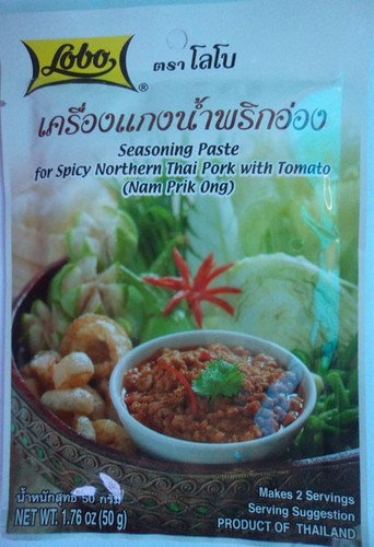 Lobo Nam Prik Ong Seasoning Paste for Spicy Northern Pork Thai Food Product of Thailand