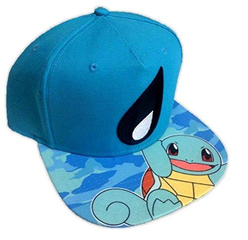 Nintendo Pokemon Squirtle Blue Snapback Baseball Hat Adjustable Cap Adult