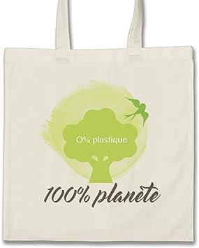 Tote Bag-Bolsa planeta 100% algodón ecológico, 330 g, diseño de ...