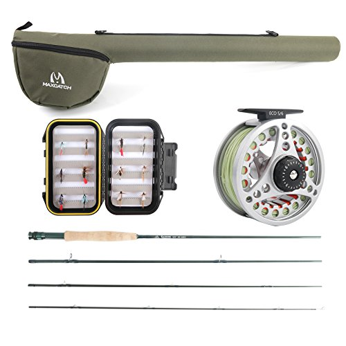 Maxcatch Extreme Fly Fishing Combo Kit 6 weight Fly Rod and Reel (6wt Fly Rod)
