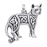 Egyptian BAST Cat Silver-Plated Pewter Pendant Necklace