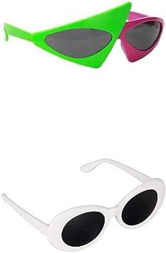 Bonarty 2pcs Gafas de Sol Vestido, Gafas Graciosas, Gafas de Sol Novedosas para Fiestas: Amazon.es: Hogar