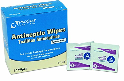 (ProStat First Aid 2404 Antiseptic Wipes (Pack of 50))