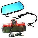 Brake Light Camera for Chevrolet Express GMC Savana Cargo VAN Camera Backup Camera (With Monitor)