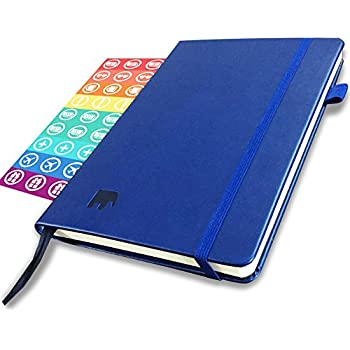 The Simple Elephant - Best Agenda Day Planner to Achieve Your Goals & Increase Productivity, Passion & Happiness - Gratitude Journal, Mindmap & Vision Board - Non-Dated-1 Year w/ BONUS Stickers