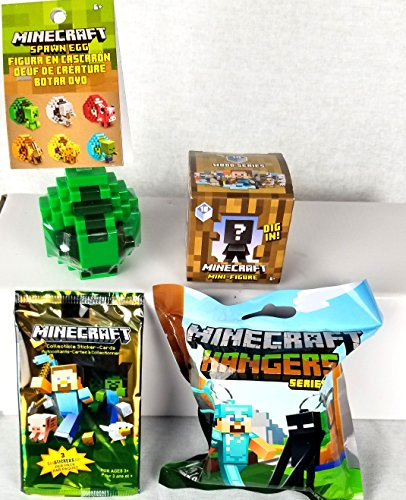 Minecraft Mini Figures Holiday Bundle (Spawn Mini Figures)