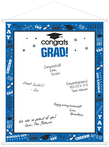 Congrats Grad Graduation Sign-In Scroll 23