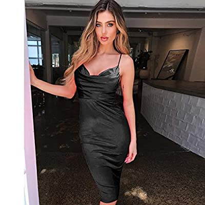 Womens Holiday Sexy Sleeveless Solid Dress Ladies Beach Party Dress