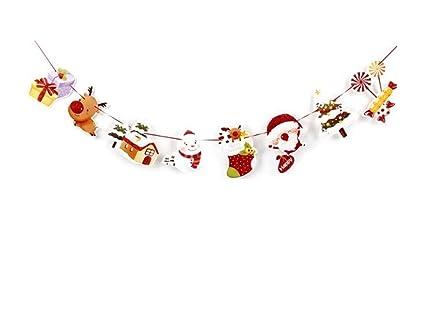 Decoración Divertida para Fiestas Navidad de Dibujos Animados Papel Bunting Holiday Scene Decorar Decoraciones de Navidad