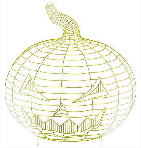 ChezAbbey Halloween Pumpkin 3D Night Light Illusion USB Desk Lamp Gradient Touch Table Light Pumpkin -