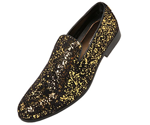 Metallic Gold Mens Shoes - 8