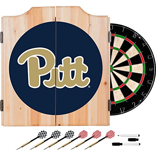 NCAA University of Pittsburgh Wood Dart Cabinet ()
