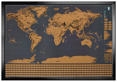 Desertcart wonderful maps buy wonderful maps products online wonderful maps scratch off world map perfect for travelers with country flags us states australian states and canadian provinces on black background gumiabroncs Choice Image