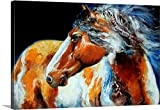 Marcia Baldwin Gallery-Wrapped Canvas entitled Mohican Indian War Horse