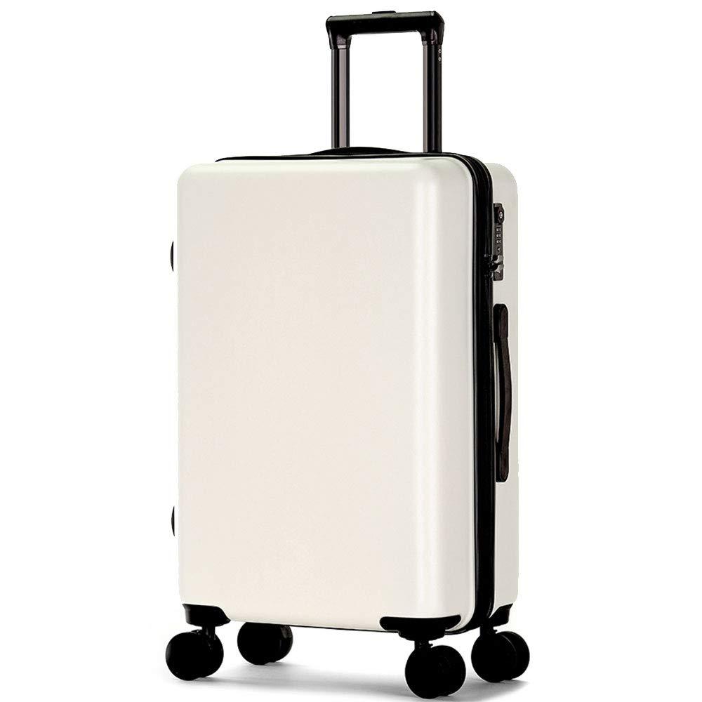 YD スーツケース トロリーケース - ABS/PC、TSA税関コードロック、ダブルトラックジッパー、小型の新しい無地学生トラベルトロリーケース - 4色オプション /& (色 : 白, サイズ さいず : 34*23*55cm) B07MX5MBB8 白 34*23*55cm