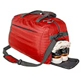 Cheap Coreal sport gym bag duffel bag with shoes compartment for men and women red