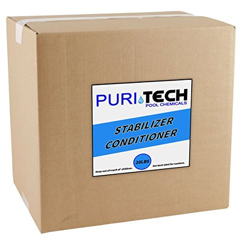 Pool Stabilizer Conditioner (20 lbs PuriTech Stabilizer Conditioner Cyanuric Acid UV Protection for Swimming Pools and Spas)