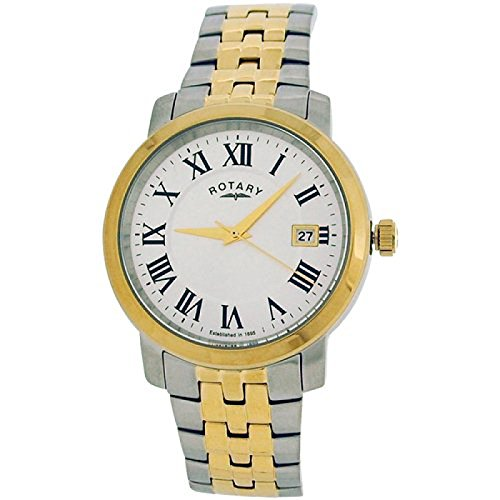 Rotary GB02881-21 Mens White Two Tone Watch