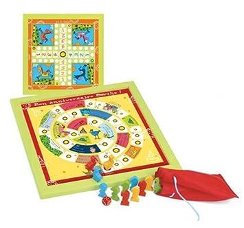 jeujura set de juegos de mesa de madera para nios juego de