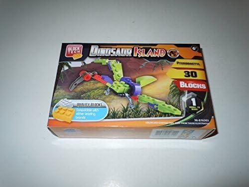 Amazon.com: Block Tech Dinosaur Island Pterodactyl 30 Pieces ...