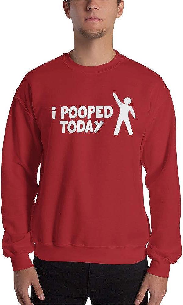I Pooped Today Funny Happy Guy Poop Unisex Sweatshirt